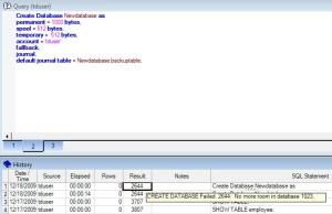 Error Message 2644
